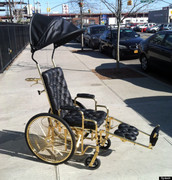 Lady Gaga's golden wheelchair