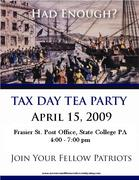 Tax Day Tea Party - State College