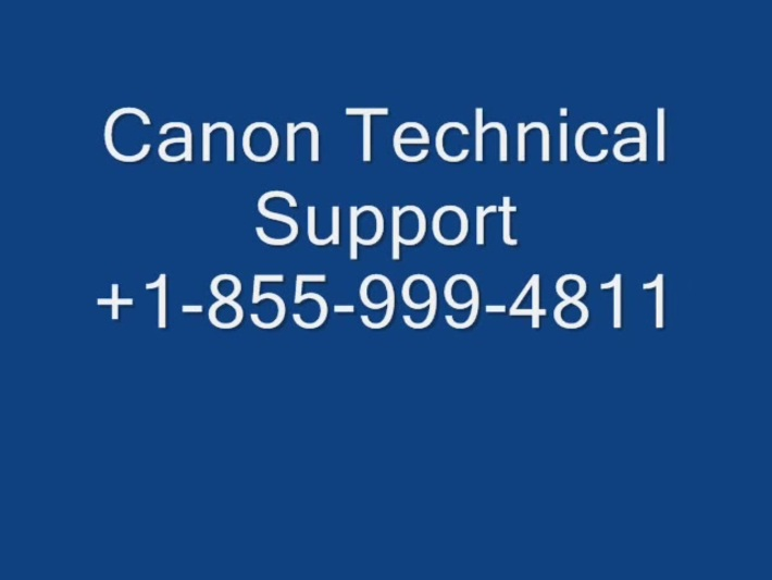 canon Technical support