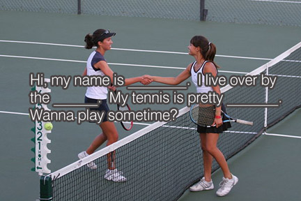 how to find tennis partners
