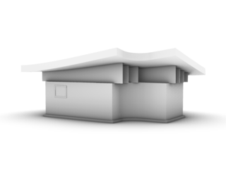 2d to 3d House for practicing Sweeps, Extrusions