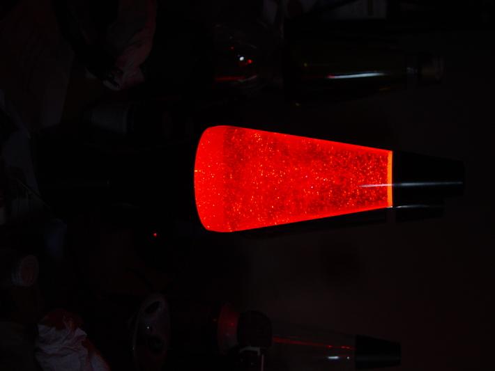 Midnight red glitter