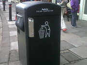 Big Belly waste bin, Orange Grove, Bath.