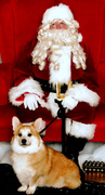 Baron with Santa