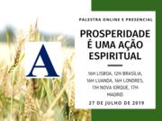 """Palestra """"Prosperidade é uma ação espiritual"""""""
