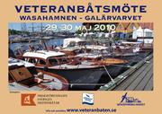 Veteranbåtsmöte i Wasahamnen på Djurgården. Formell anmälan via länken