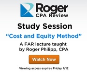 FAR Lecture: Cost and Equity Method | Roger CPA Review