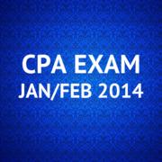 CPA Exam Jan/Feb 2014