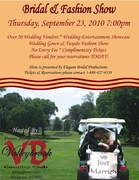 Don't miss out on Ron Jaworski's BRIDAL AND FASHION SHOW at VALLEYBROOK Country Club!!!*