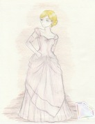 Christa Lenz (Charles James Couture 1948-1949 Ball Gown)