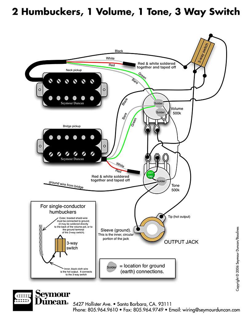 pickup wiring cigar box nation 2 humbuckers 1 volume 1 tone 3 way switch coil split wiring diagram 2 humbucker volume 1