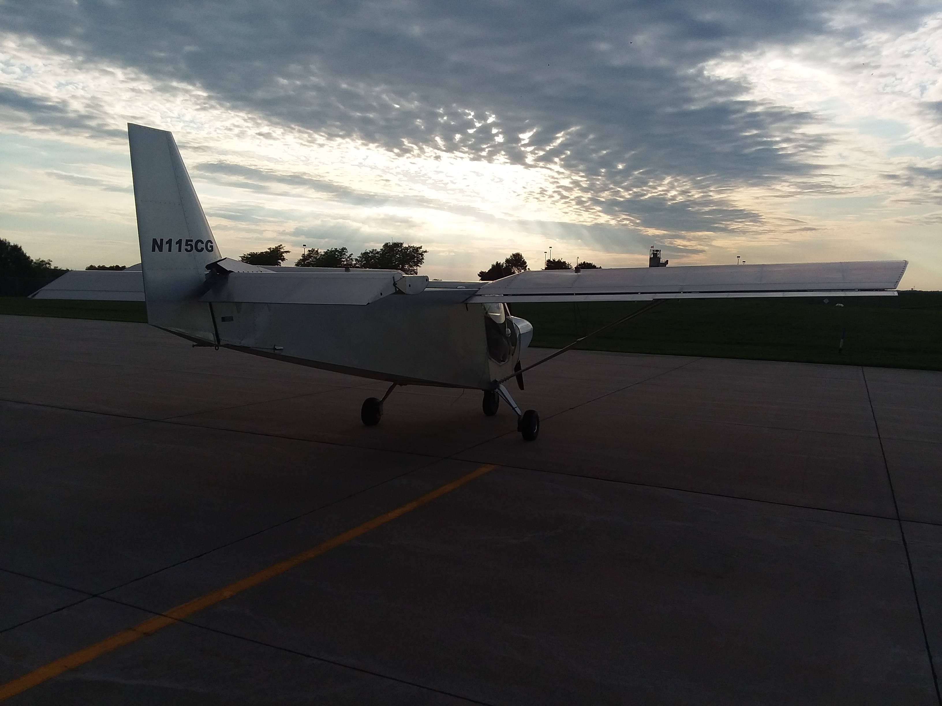 Sunset after a great flight