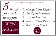 Open Access Week 2011 at Texas A&M