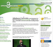 Athabasca University Open Access Week, October 24-30, 2011.