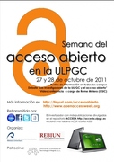 Open Access Week 2011 at the University of Las Palmas de Gran Canaria (ULPGC)
