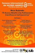 """Mesa Redonda: """"El Acceso Abierto a las Publicaciones Científicas en Latinoamérica"""""""