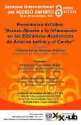 Presentación del Libro: Acceso Abierto a la Información en las Bibliotecas Académicas de América Latina y el Caribe