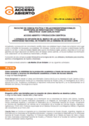 Acceso Abierto y Producción Científica - Jornada de difusión en el marco de las actividades de la Universidad Nacional de Rosario en la Semana de Acceso Abierto