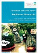 Table ronde : Publier en libre accès