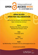 Unisa Open Scholarship Seminar