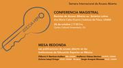 """Mesa redonda: """"Las publicaciones de acceso abierto en las instituciones de educación superior en México"""""""