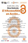 """Mesa Redonda: """"El Acceso Abierto en Acción"""" - #OAWeek IIBI UNAM México"""