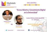 Encuentro sobre Acceso Abierto y Conocimiento Digital en la Universidad #OpenAccessWeek