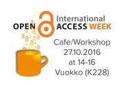 Open Access Week Café for researchers