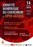 """Journée d'étude """"Etre vu pour être lu : l'Open Access pour renforcer votre identité numérique de chercheur"""""""