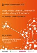 Open Access und die Governance von Forschungsinfrastruktur
