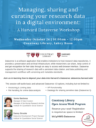 Managing, sharing and curating your research data in a digital environment