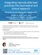 Integrating reproducible best practices into biomedical and clinical research: A hands-on workshop for researchers