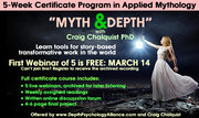 """""""Myth and Depth"""" - Webinar Series and Level 1 Certificate Course"""