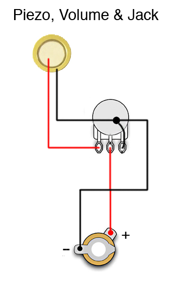 help! need wiring diagram for rod piezo using volume pot cigarbut they should wire up the same i have not used a rod piezo yet, so i don\u0027t know if you have to be particular when you cut them or not