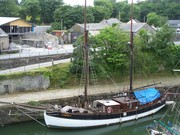 Lugger,Charlestown harbour,Cornwall.