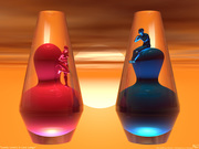 Lonely Lovers in Lava Lamps