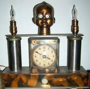 Baby Head Clock Lamp