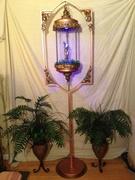 Oil rain lamp stand full shot