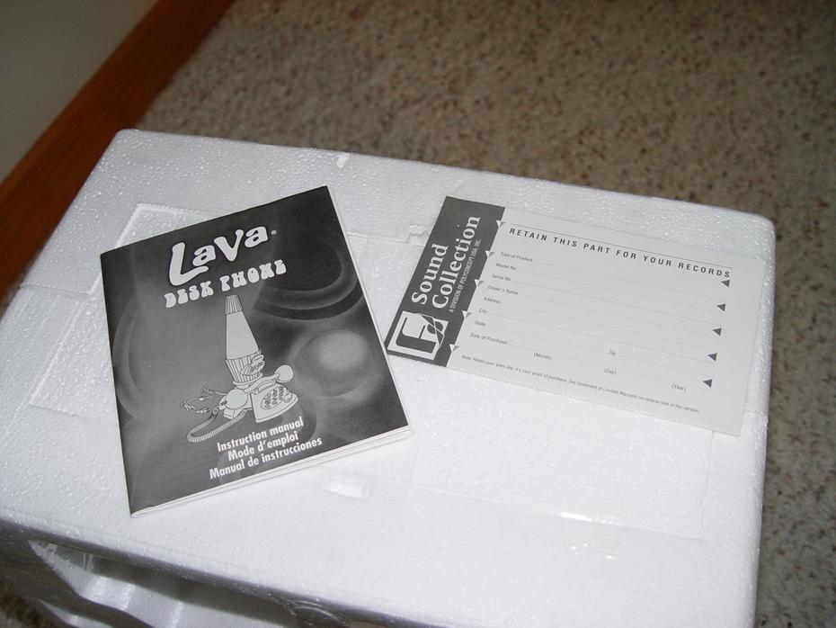 Lava phone paperwork