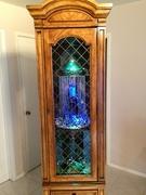 oil rain lamp in display case 4