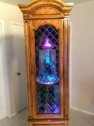oil rain lamp in display case 12