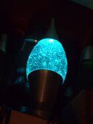 Unsusual glitter lamp