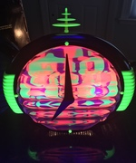 One of the clocks (#3802) reacts to black light.