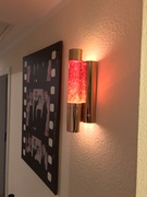 Wall mounted glitterlite amber 03