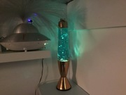 Vintage Hunter lamp with new fluid and glitters from Goo-lamp 2
