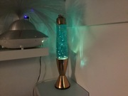 Vintage Hunter lamp with new fluid and glitters from Goo-lamp 1
