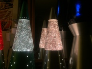 Altered sliver glitter lamps !!