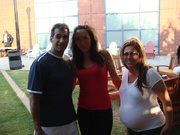 Helena, Me and My very pregnant wife at 2007 Us Open