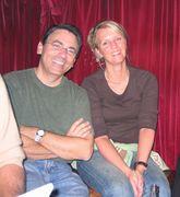 Joe Cip and Anders Jarryd's wife at Albert Hall
