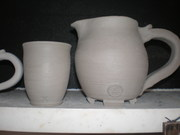 Tumbler and Small Pitcher